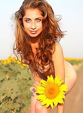 Dont miss your opportunity of watching such a beautiful girls hot poses in the daisy field